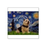 Starry /Norwich Terrier Square Sticker 3