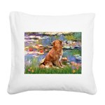 Lilies / Nova Scotia Square Canvas Pillow
