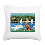 Sailboats / Nova Scotia Square Canvas Pillow