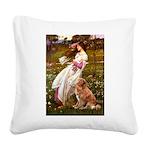 Wind Flowers & Nova Scotia Square Canvas Pillow