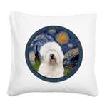 Starry Old English (#3) Square Canvas Pillow