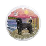 Pink Sunset- Black Portie (PWD) Ornament (Round)