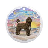 Ocean Sunrise - Brown Portie (PWD)Ornament (Round)
