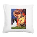 Mandolin Angel & Papillon Square Canvas Pillow