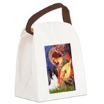 Mandolin Angel & Papillon Canvas Lunch Bag