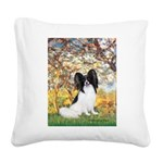 Spring & Papillon Square Canvas Pillow