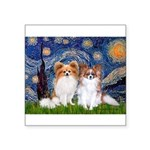 Starry Night & Papillon Square Sticker 3
