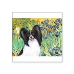 Irises & Papillon Square Sticker 3
