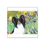 Irises & Papillon Square Sticker 3