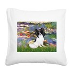 Lilies (2) & Papillon Square Canvas Pillow