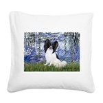 Lilies (#6) & Papillon Square Canvas Pillow