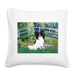 Bridge & Papillon Square Canvas Pillow