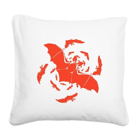 bats2a.png Square Canvas Pillow