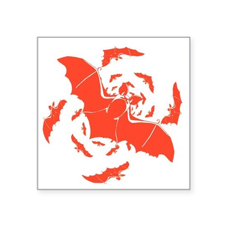 "bats2a.png Square Sticker 3"" x 3"""