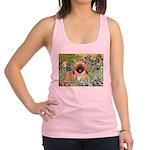 Irises / Pekingese(r&w) Racerback Tank Top