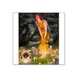 Fairies / Pekingese(r&w) Square Sticker 3