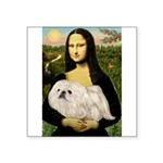 Mona /Pekingese (w) Square Sticker 3