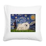 Starry / Pekingese(w) Square Canvas Pillow