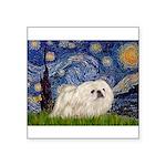 Starry / Pekingese(w) Square Sticker 3