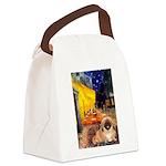 Cafe /Pekingese (r) Canvas Lunch Bag