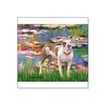 Lilies & Pitbull Square Sticker 3