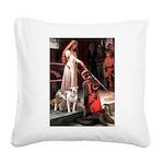 The Accolade / Pitbull Square Canvas Pillow