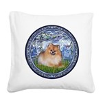 Lilies #6/Pomeranian #4 Square Canvas Pillow