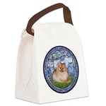 Lilies #6/Pomeranian #4 Canvas Lunch Bag