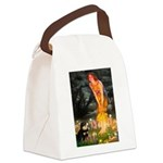 Fairies / Pomeranian (b&t) Canvas Lunch Bag