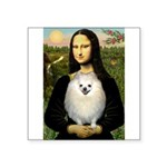 Mona / Pomeranian(w) Square Sticker 3