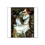 Ophelia / Pomeranian (p) Square Sticker 3