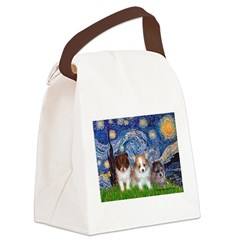 Starry-Pom PUPPY TRIO.png Canvas Lunch Bag