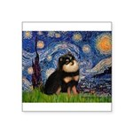 Starry Night / Pomeranian(b&t) Square Sticker 3