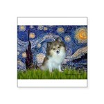 Starry Night /Pomeranian (p) Square Sticker 3