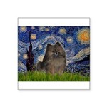 Starry Night /Pomeranian(bndl ) Square Sticker 3