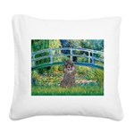 Bridge / Poodle (Silver) Square Canvas Pillow