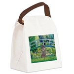 Bridge / Poodle (Silver) Canvas Lunch Bag
