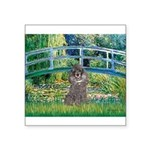 Bridge / Poodle (Silver) Square Sticker 3