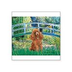 Lily Pond Bridge/Poodle (apri Square Sticker 3