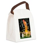 Mideve / 2 Poodles( BW) Canvas Lunch Bag