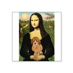 Mona / Poodle (a) Square Sticker 3
