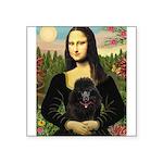 Mona / Poodle (bl) Square Sticker 3