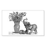 Mona / Poodle (bl) 5.25 x 5.25 Flat Cards