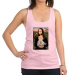 Mona Lisa/Poodle (white/toy) Racerback Tank Top