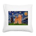 Starry / Poodle (Apricot) Square Canvas Pillow