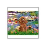 Lilies / Poodle (Apricot) Square Sticker 3