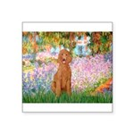Garden/Std Poodle (apricot) Square Sticker 3