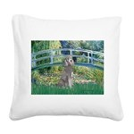 Bridge/Std Poodle silver) Square Canvas Pillow