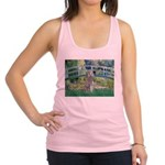 Bridge/Std Poodle silver) Racerback Tank Top