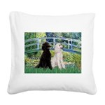 Bridge / Std Poodle (pr) Square Canvas Pillow